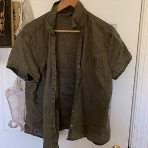 Slightly sheer button down collared tee